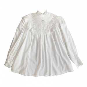 WHITE SMOCK BLOUSE