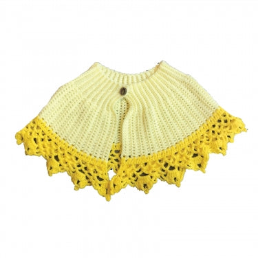 YELLOW KNIT SHAWL