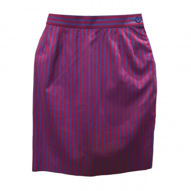 YVES SAINT LAURENT STRIPED SKIRT