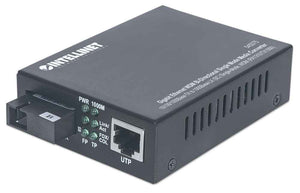 Gigabit Ethernet WDM Bi-Directional Single Mode Media Converter Image 1