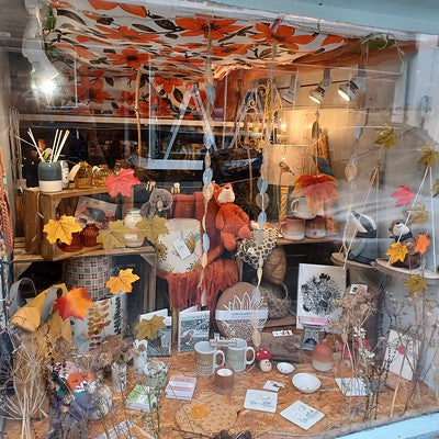Luvit's Autumn 2021 Window Display in Barmouth
