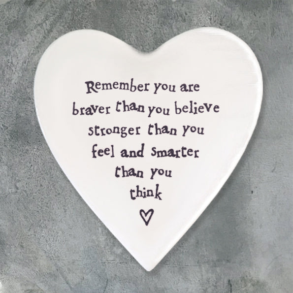 Ceramic Heart Coaster - Braver