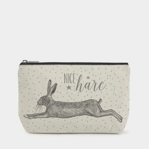 Hare Cotton Zip Bag - Luvit!