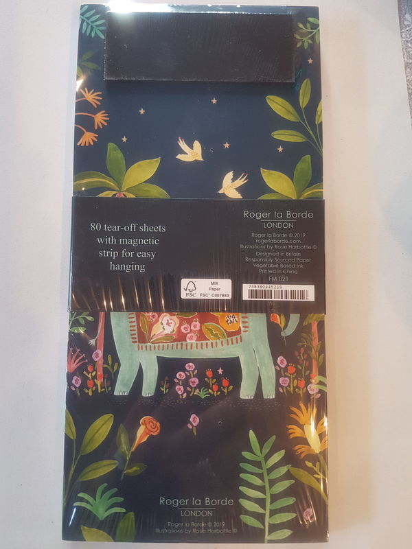 Elephant Magnetic To Do Notepad - Luvit!