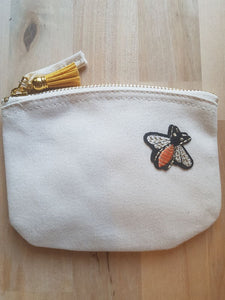 Bee Natural Organic Cotton Coin Purse - Luvit!