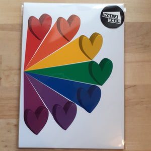 Rainbow Hearts - A4 or A5 Print - Luvit!