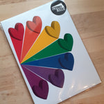 Load image into Gallery viewer, Rainbow Hearts - A4 or A5 Print - Luvit!