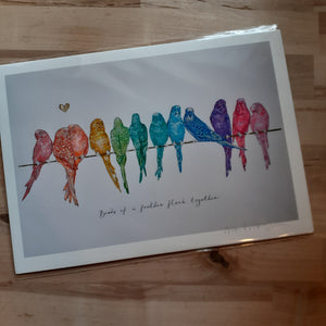 """Birds of a Feather...""- hand signed A4 Print - Luvit!"