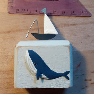 Deep Sea Fishing Wooden Decoration - Luvit!