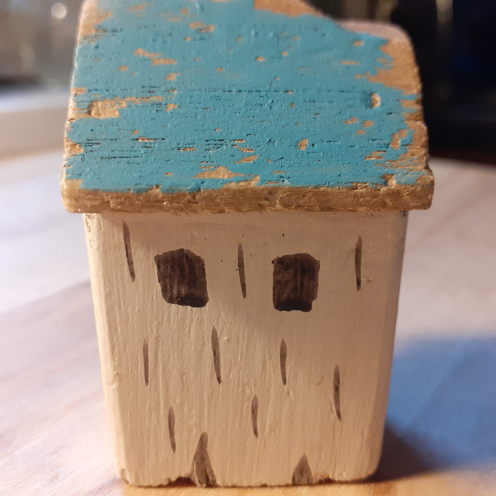 Puffin Cottage Wooden Decoration - Luvit!