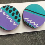 Load image into Gallery viewer, 80s Aqua Stud Earrings (Pair of) - Luvit!