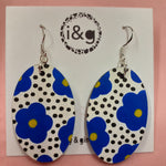 Load image into Gallery viewer, Blue Floral Drop Earrings (Pair of) - Luvit!