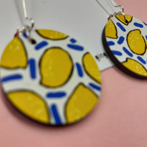 White Lemon Drop Earrings (Pair of) - Luvit!