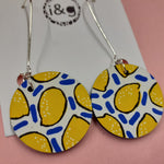 Load image into Gallery viewer, White Lemon Drop Earrings (Pair of) - Luvit!