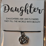 "Load image into Gallery viewer, ""Daughter"" WishString charm bracelet"