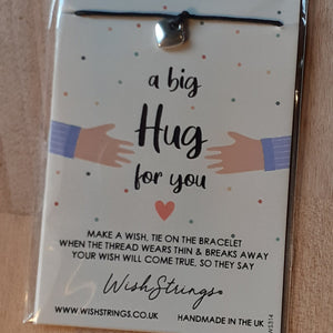 """A Big Hug for You"" WishString charm bracelet"