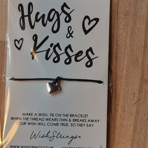 """Hugs & Kisses"" WishString charm bracelet"