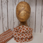 Load image into Gallery viewer, Handmade Merino Wool Snood, Welsh Tapestry Pattern (Burnt Orange)
