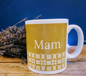 Mam Mug - Welsh Tapestry design
