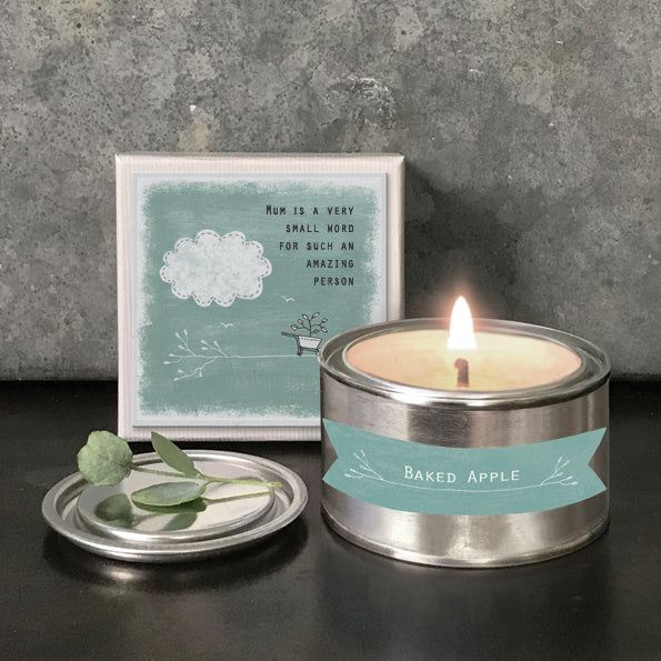 Boxed Tin Candle  - 'Mum is a small word for such an amazing person'