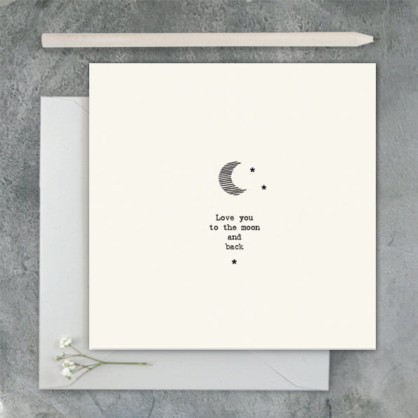 'Love You To The Moon' -  Card
