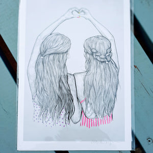 Best Friends - A4 Print - Luvit!