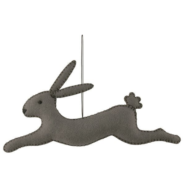 Leaping Harry grey rabbit - Luvit!