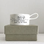Load image into Gallery viewer, Handled tea light holder - 'Good Friends Light up the World'