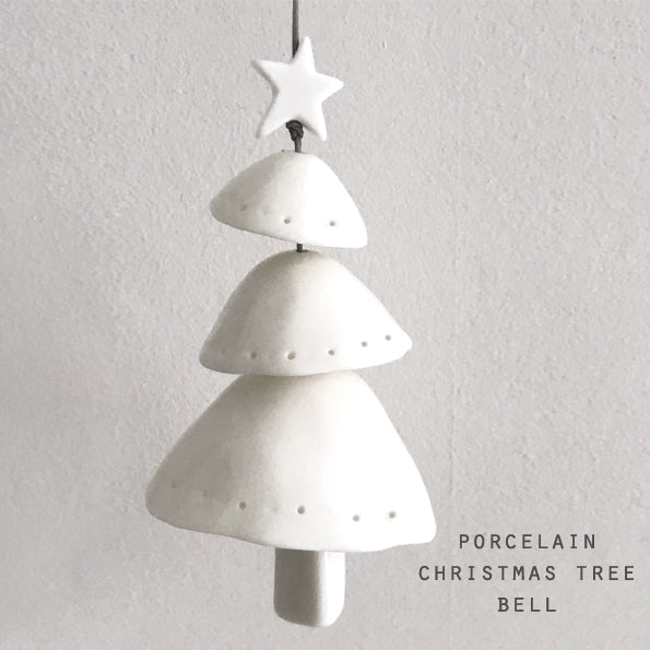 Porcelain Layered Christmas Tree/Bell