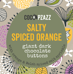 Load image into Gallery viewer, Giant Dark Chocolate buttons - Salty Spiced Orange 98g (vegan)