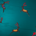 Load image into Gallery viewer, Reindeer Recycled Paper Garland 3 metres