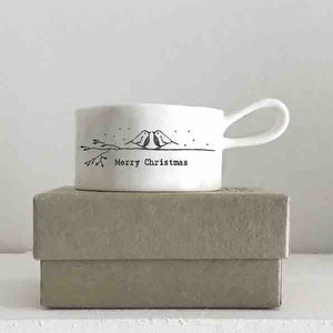 'Merry Christmas'  ceramic tea light holder