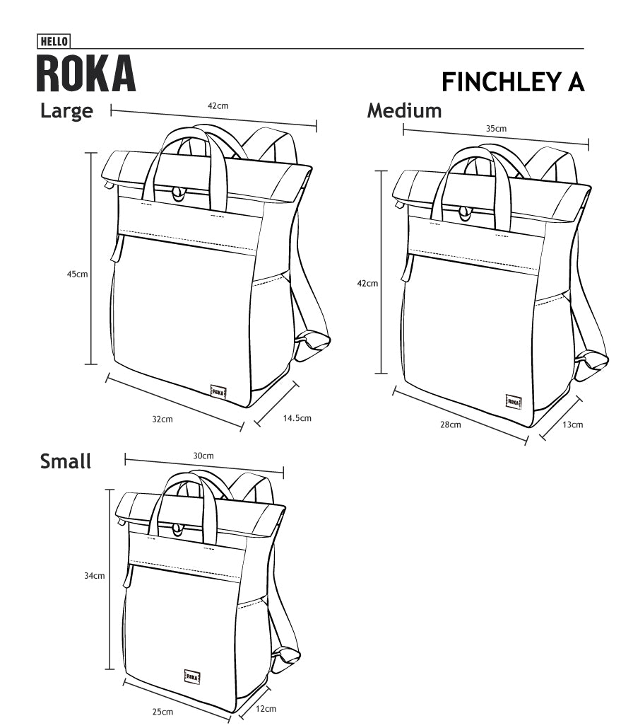 Roka Sustainable Finchley A Rucksack - Sienna Small - Luvit!