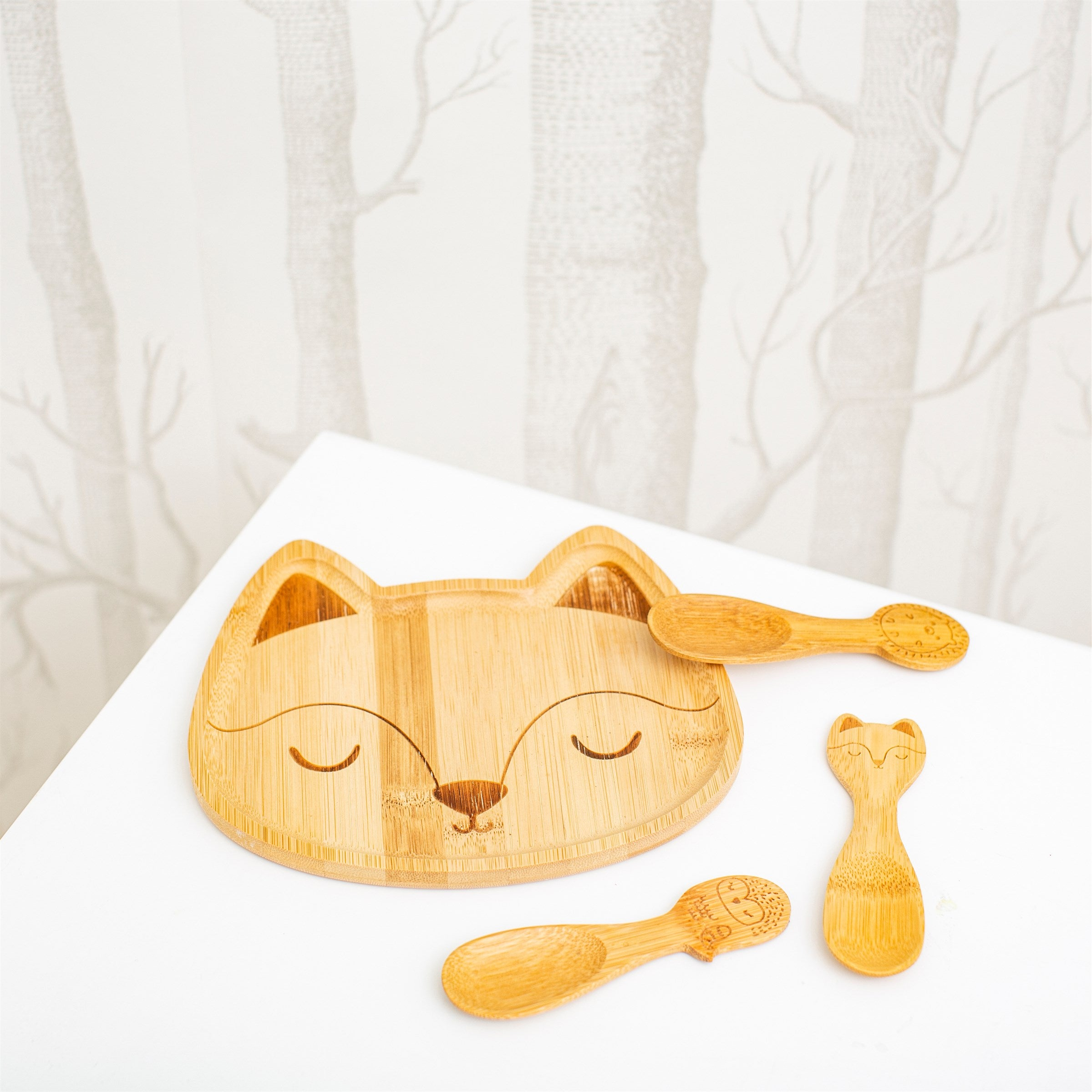 Woodland Animal Bamboo Spoons
