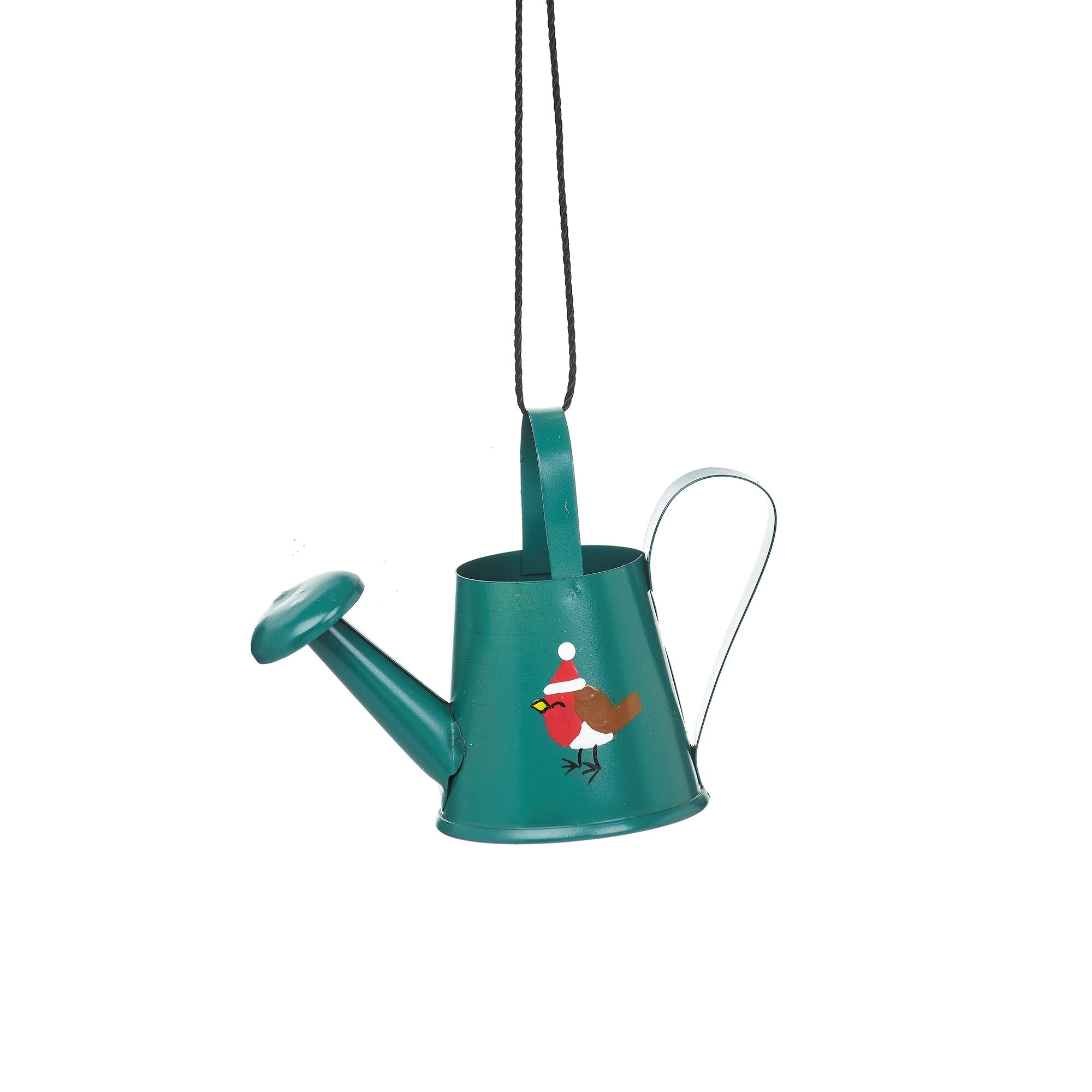 Robin Watering Can Hanging Decoration