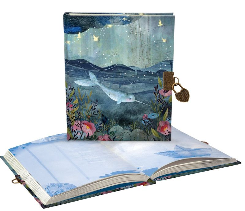 Sea Dreams Narwhal Lockable Journal - Luvit!