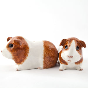 Guinea Pig Salt and Pepper Set - brown and white - Luvit!