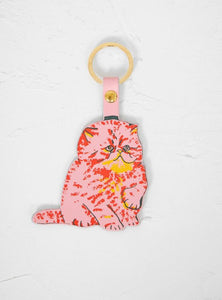 Cat Leather Key Ring (Pink) - Luvit!