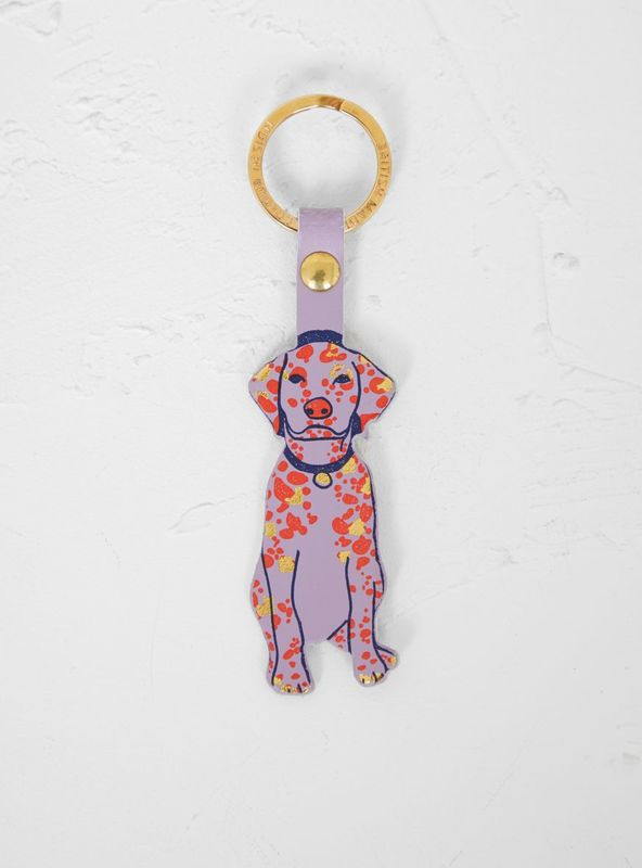 Dog Leather Key Ring (Pink) - Luvit!