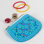 Load image into Gallery viewer, Retro 70's Beaded Purse - Blue