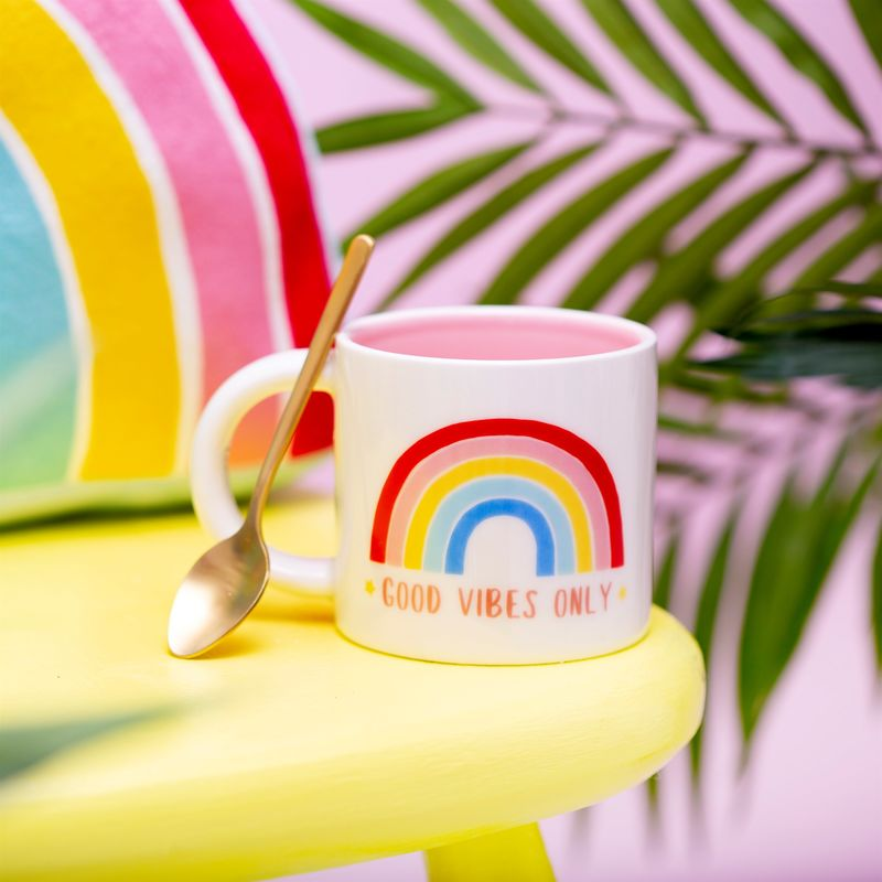Rainbow Good Vibes only mug - Luvit!