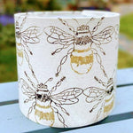 Load image into Gallery viewer, Hand Printed Bee Design Lampshade - Luvit!