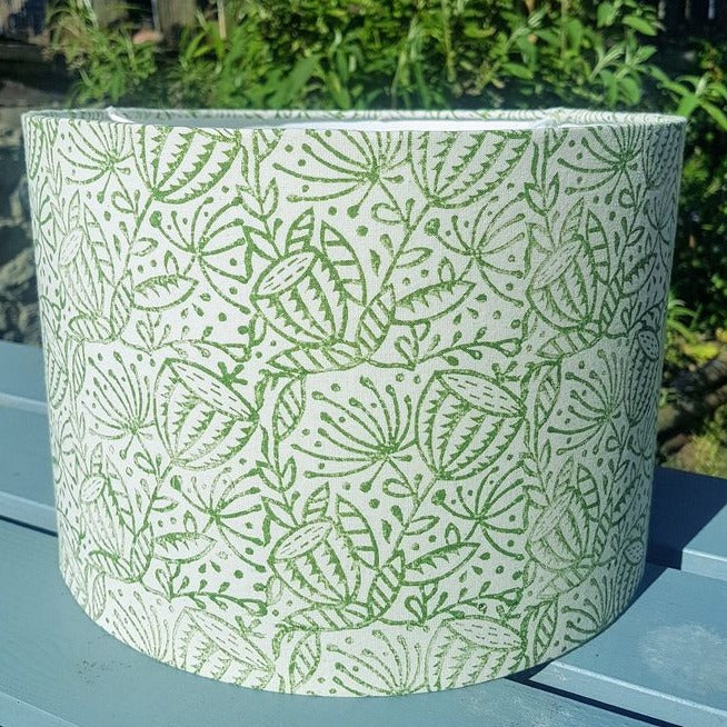 Hand Printed Seed Head Lampshade - Luvit!