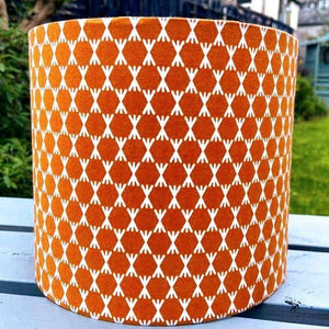 Lampshade -  Burnt Orange Geometric Design - Luvit!