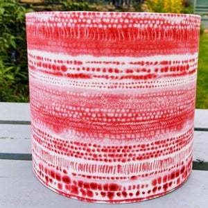 Hand Assembled Pink Abstract Lampshade - Luvit!