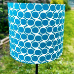 Load image into Gallery viewer, Hand Assembled Teal Circle Lampshade - Luvit!