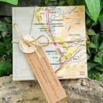 Load image into Gallery viewer, Barmouth OS Map Wooden Coasters - Luvit!