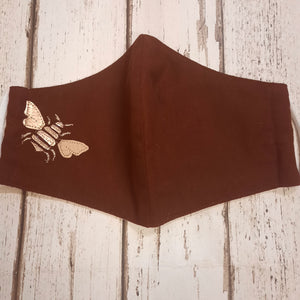 Red Cotton Bee Design Face covering