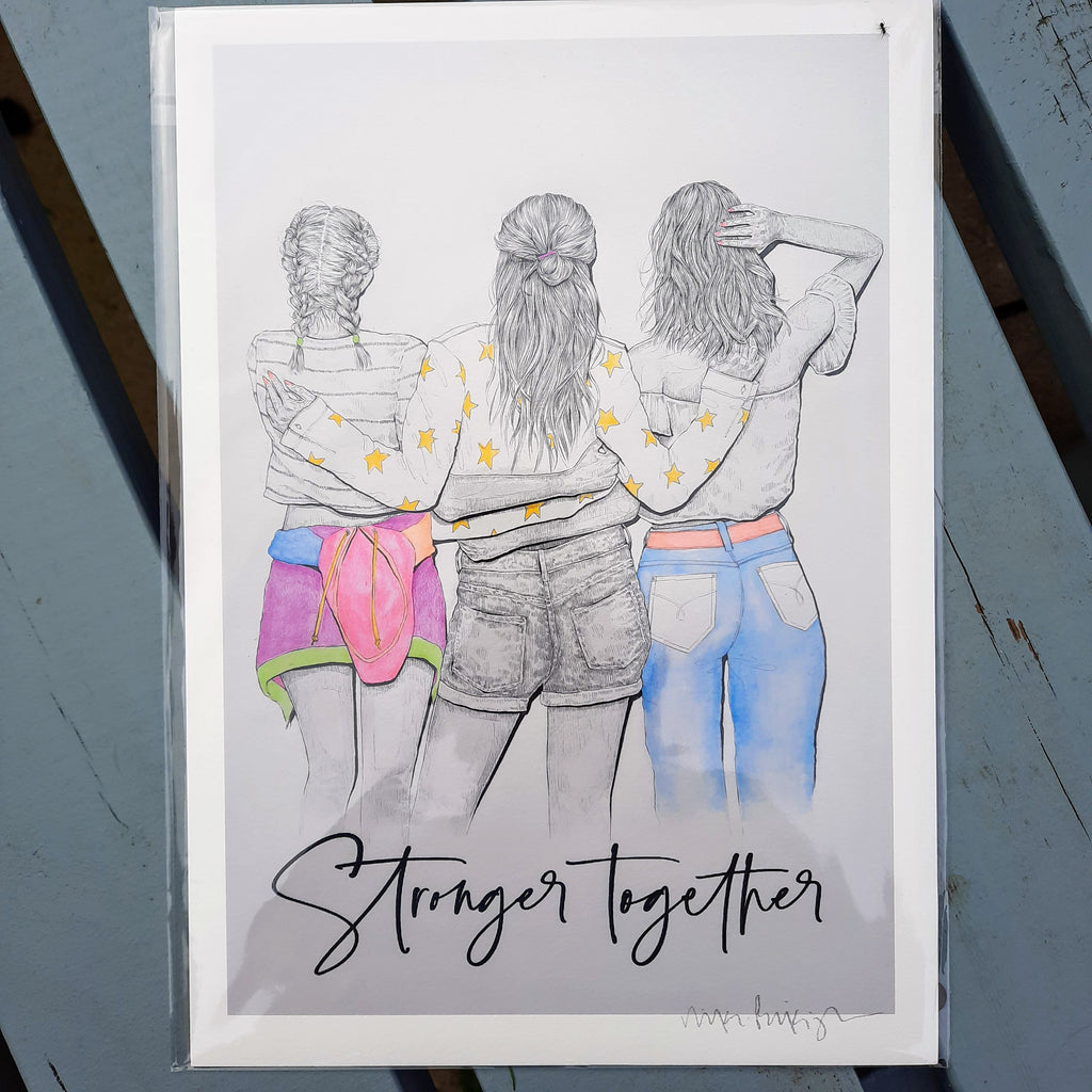 Stronger Together - A4 Print - Luvit!