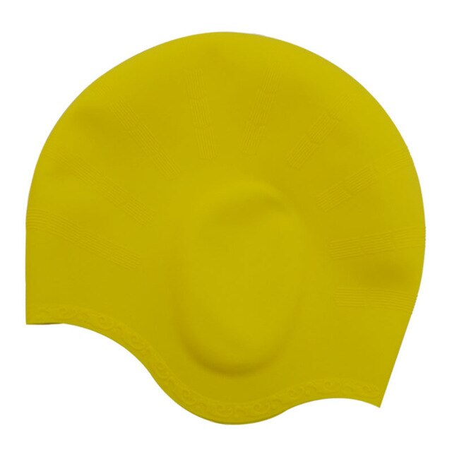 Adults Waterproof Swimming Caps Men Women Swim Pool Cap Long Hair Ear Protect Large Size Natacion Badmuts Silicone Diving Hat